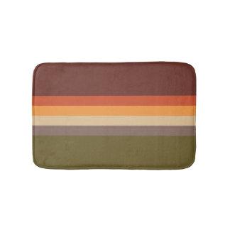 Alfombrilla De Baño Colores del otoño - verde rojo Brown del moreno