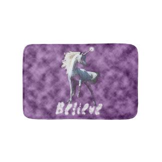 Alfombrilla De Baño Crea en estera de baño de los unicornios