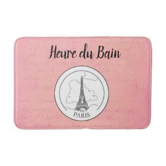 Alfombrilla De Baño Decoración parisiense de la torre Eiffel francesa