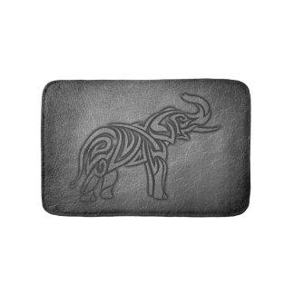 Alfombrilla De Baño Elefante tribal de cuero