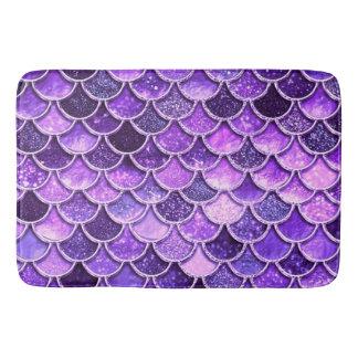 Alfombrilla De Baño Escalas ultravioletas de la sirena del purpurina
