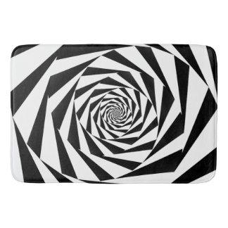 Alfombrilla De Baño Espiral blanco y negro