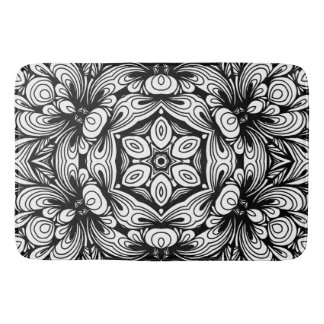 Alfombrilla De Baño Estampado de flores clásico complejo blanco y