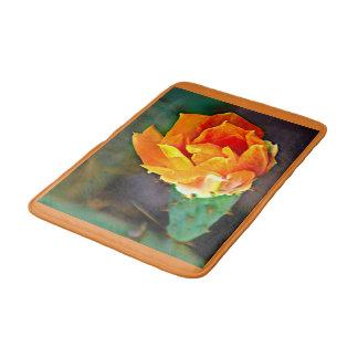 Alfombrilla De Baño Estera de baño anaranjada de la flor del higo
