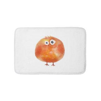 Alfombrilla De Baño Estera de baño anaranjada linda del pájaro de la