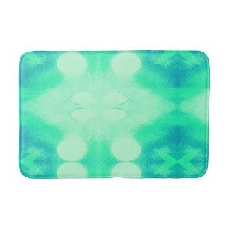 Alfombrilla De Baño Estera de baño azul y verde de Ikat