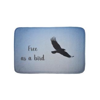 """Alfombrilla De Baño Estera de baño con el mensaje: """"Libre como pájaro"""