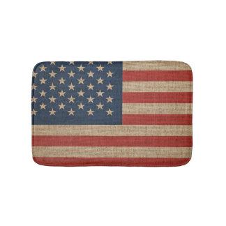 Alfombrilla De Baño Estera de baño con la bandera americana de los