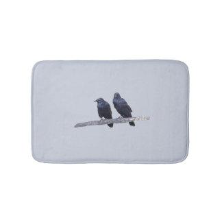 Alfombrilla De Baño Estera de baño con los cuervos