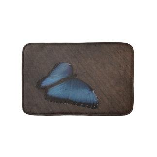 Alfombrilla De Baño Estera de baño de encargo de la mariposa azul