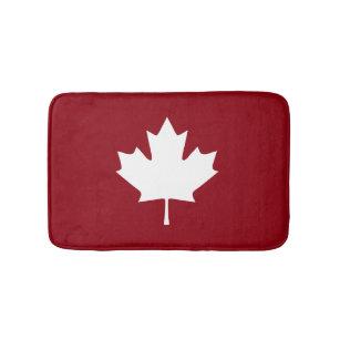 Alfombrilla De Baño Estera de baño de la hoja de arce de Canadá