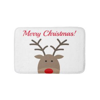 Alfombrilla De Baño Estera de baño de las Felices Navidad con el reno