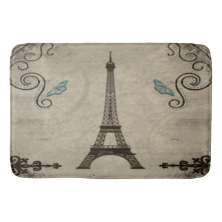 Alfombrilla De Baño Estera de baño del Grunge de la torre Eiffel