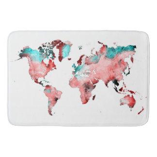 Alfombrilla De Baño estera de baño del mapa del mundo