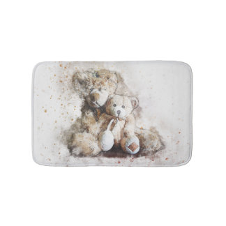 Alfombrilla De Baño Estera de baño dulce de los osos de peluche de
