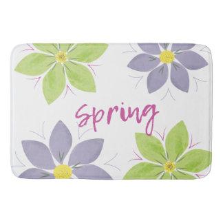 Alfombrilla De Baño Estera de baño floral de la primavera de la