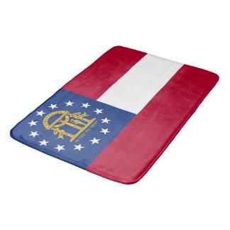Alfombrilla De Baño Estera de baño grande con la bandera de Georgia,