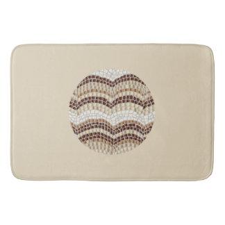 Alfombrilla De Baño Estera de baño grande del mosaico beige redondo