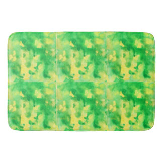 Alfombrilla De Baño Estera de baño grande del verde amarillo