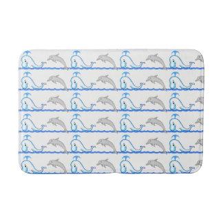 Alfombrilla De Baño Estera de baño media del delfín y de la ballena