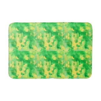 Alfombrilla De Baño Estera de baño media del verde amarillo