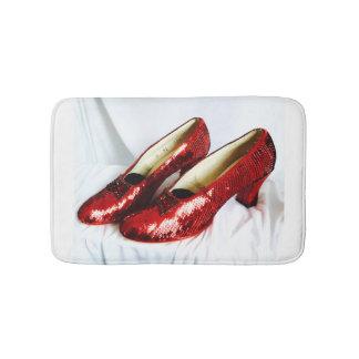 Alfombrilla De Baño ¡Estera de baño roja de rubíes de los