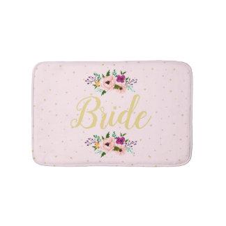 Alfombrilla De Baño Estera de baño - rosa floral de la novia