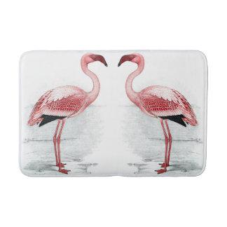 Alfombrilla De Baño Estera de baño rosada de los flamencos del PARQUE