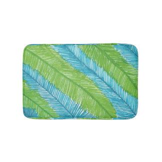 Alfombrilla De Baño Estera de baño verde y azul del modelo de las