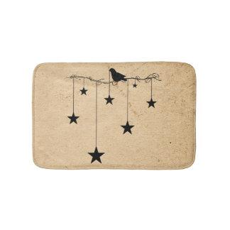 Alfombrilla De Baño Estrellas y estera de baño colgantes del cuervo