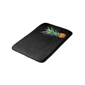 Alfombrilla De Baño fondo negro minimalista elegante de la piña el |