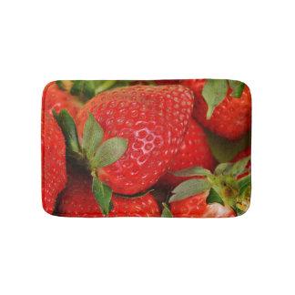 Alfombrilla De Baño Fresas dulces rojas