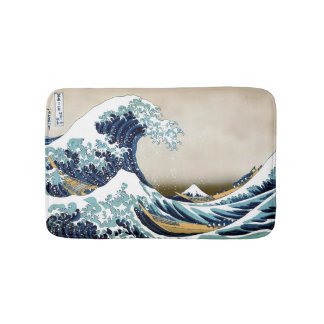 Alfombrilla De Baño Gran onda de alta calidad de Kanagawa por Hokusai