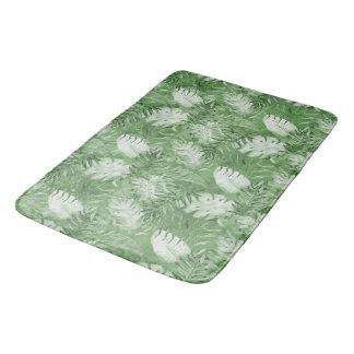 Alfombrilla De Baño Hojas tropicales del verde de la acuarela