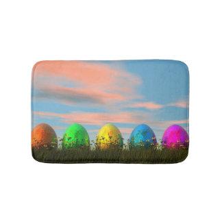 Alfombrilla De Baño Huevos coloridos para pascua - 3D rinden