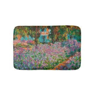 Alfombrilla De Baño Iris en el jardín de Monets en Giverny de Claude