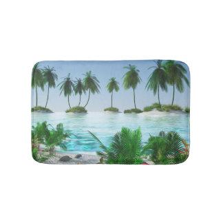 Alfombrilla De Baño Isla tropical del paraíso