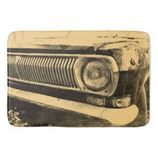 Alfombrilla De Baño Linternas clásicas viejas del coche del vintage