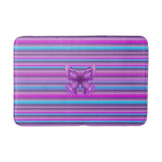 Alfombrilla De Baño Mariposa púrpura