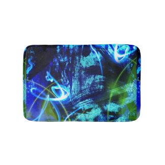 Alfombrilla De Baño Modelo abstracto azul