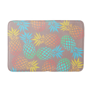 Alfombrilla De Baño modelo colorido tropical de la piña del verano