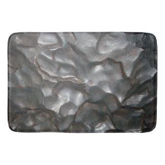 Alfombrilla De Baño Modelo metálico de la roca del meteorito,
