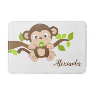 Alfombrilla De Baño Mono lindo del bebé
