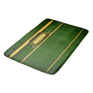 Alfombrilla De Baño Monograma en efecto y verde de lujo del art déco