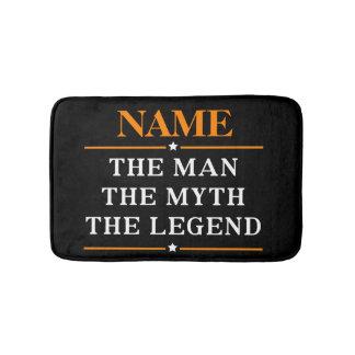 Alfombrilla De Baño Nombre personalizado el hombre el mito la leyenda