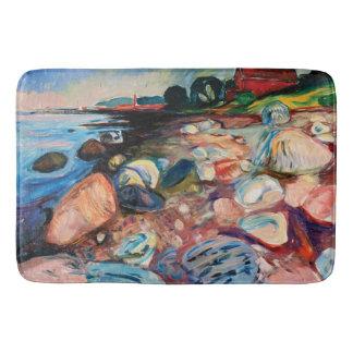 Alfombrilla De Baño Orilla con la casa roja de Edvard Munch