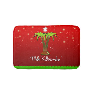 Alfombrilla De Baño Palmera de Mele Kalikimaka para Navidad