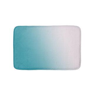Alfombrilla De Baño Pendiente verde azulada y blanca