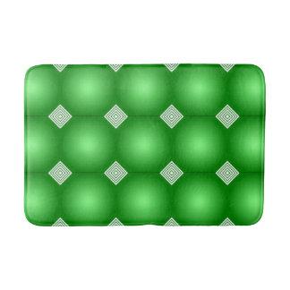 Alfombrilla De Baño Pendiente verde con las rayas blancas