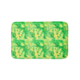 Alfombrilla De Baño Pequeña estera de baño del verde amarillo